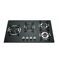Built In Gas Stove 4 Burner Glass Top With Cast Iron Pan Support Manufactures