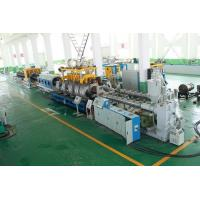 PE Double Wall Corrugated Pipe Double Screw Extruder / Pvc Pipe Making Machine Manufactures