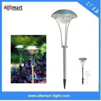 Stainless Steel solar powered led lamp Solar Spike light for outdoor garden pathway solar mushroom lawn lights Manufactures