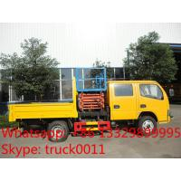 Quality hot sale dongfeng brand 14m aerial working platform truck with bucket, best price hydraulic aerial working bucket truck for sale