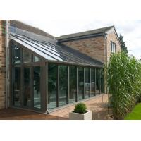 Quality Tempered Glass Aluminium Frame Greenhouse Simple Design For Commercial for sale