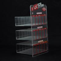 Custom Plastic E - Cigarette Display Stand Transparent More Rows More Tiers Manufactures