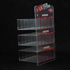 E Liquid 3 Tier Acrylic RetailDisplay Stands 200PCS For Adevertisement Manufactures