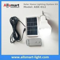 Remote Control DC Solar Home Lighting System Kits with One LED Bulb 240lm Solar Emergency Lights for Indoor & Outdoor Manufactures