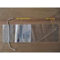 LDPE Clear Drawstring Plastic Bags With Perforation For Cotton Wool Pads Manufactures