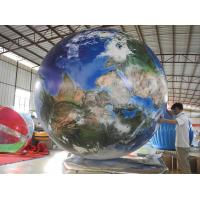 Quality Earth Pattern Tarpaulin PVC Inflatable Advertising Balloons Customized Good Tension for sale