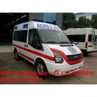 Quality 2017s best seller-FORD V348 diesel transit ambulance vehicle for sale, high quality and low price FORD diesEL ambulance for sale