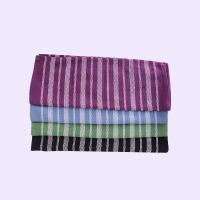 Stripe Pattern Standard Size Cotton Kitchen Tea Towels / Cleaning Cloth For House Manufactures