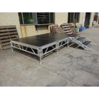 Assemble Stage Aluminum Alloy Glass Stage Folding Stage Portable Aluminum Wooden Platform Mobile Stage for Event Manufactures