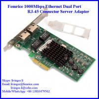 Buy cheap Femrice 1000M 2 Ports RJ-45 Connector PCI Express x4 Server Adapter (Intel 82571 from wholesalers