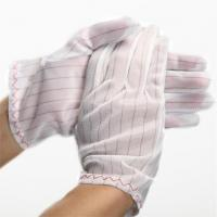 100% polyester fabric ESD Stripped Glove Manufactures