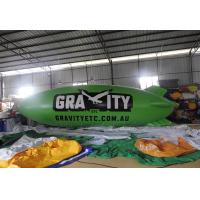 8m Green Inflatable Blimp Airship / Inflatable Helium Balloon Manufactures