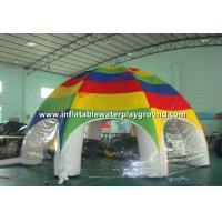 Outdoor Big Air Tight Inflatable Tent With White Tubes And Colorful Roof Manufactures