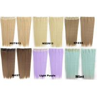 Synthetic Blonde Hair Extensions Korean Straight Human Hair Weave Manufactures