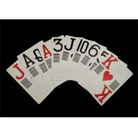 Plastic PVC Waterproof Casino Standard Playing Cards Custom Offset Printing Manufactures