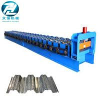 0.7-1.5 Thickness Roof Floor Deck Steel Roll Forming Machine For Construction Manufactures