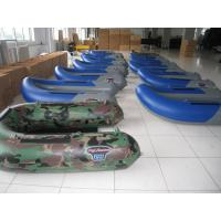 Quality Blue Mini Pontoon Inflatable Fishing Dinghy , 1.5m Float Inflatable Belly Boat for sale