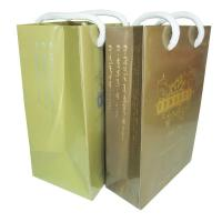 Hot stamping 190gsm-300gsm glossy art / kraft paper with Cotton rope, Carrier Bag Printing Manufactures