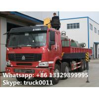 Quality Heavy duty SINO TRUK 8*4 HOWO 16tons Truck with Crane,factory sale best price Truck with XCMG Crane Truck with crane for sale
