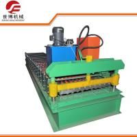China Metal Roller Shutter Door Roll Forming Machine Easy Operate With Hydraulic Cutting on sale