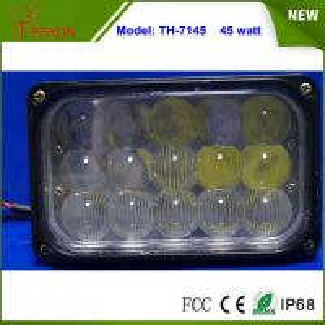 "7"" Rectangular 45W Offroad Vehicle LED Conversion Work Light Driving Headlamp Manufactures"