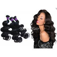 Double Weft Peruvian Weaving Hair / Smooth Soft Clean Virgin Hair Manufactures