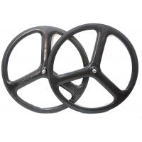 Track / Fixed Gear  Carbon Spoke Wheels 700C Tri Spoke With 20.5MM Width Manufactures