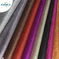 Customized Glitter Wall Fabric High Abrasion Resistance Easy Cutting Solid Color Manufactures