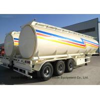 China Liquid Flammable Tank Tanker Semi Trailer 3 Axles For Diesel ,Oil , Gasoline, Kerosene 45000LitersTransport on sale