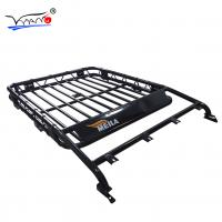 E008A 38mm Iron Tube Roof Top Cargo Basket, Stainless Steel Luggage Roof Carrier Basket For Toyota Land Cruiser Manufactures
