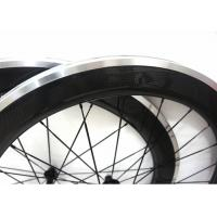 Quality Matte / Glossy Finishing Carbon Alloy Wheels 700C With Straight Pull Powerway for sale