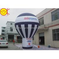 Giant Black And White Inflatable Ground Balloon Commercial Grade For Advertising Manufactures