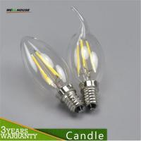 E27 E14 LED candle bulb lamp filament tungsten for crystal chandelier Light Incandescent Replace 2W 4W AC 220V CE led Manufactures