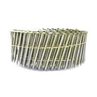 2.3mm*65mm Diamond Point Ring Shank Pallet Coil Nails With Flat / Checked Head Manufactures
