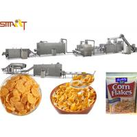 Automatic Corn Flakes Production Line Breakfast Cereal Corn And Wheat Flakes Millet Flakes Making Manufactures