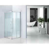 Shinning Silver Bathroom Shower Enclosures 8mm Frost Glass Shower Cubicles Manufactures