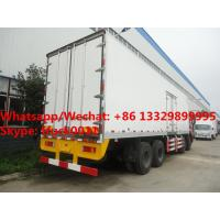 Quality HOT SALE! bigger volume dongfeng tinalong 8*4 LHD refrigerator truck for seafood, Customized best price cold room truck for sale