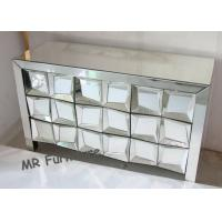 Wooden Glass Mirrored Bedroom Chest Durable Material Long Life Span Manufactures