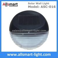 2LED Super Bright Round Black Security Solar Fence Lights for Patio Walkway Solar Deck Light Wall Mount Sconce Manufactures
