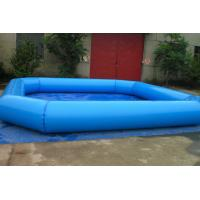 Fireproof Backyard Blue Inflatable Family Pool For Adult , Inflated Toys Pools Manufactures