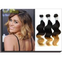 Body Wave Peruvian 5A Human Hair Extension For Lady  3 Tone Body Weaving Manufactures