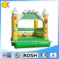 Mini Happy Commercial Bouncy Castles For Kids / Fun Backyard Bouncers Manufactures