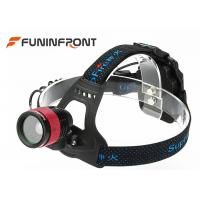 CREE T6 Outdoor LED Headlamp /  3 Gears Zoom Helmet lights Using AA Battery Manufactures