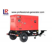 Trailer Type Mobile Power Generator 20 - 400 Kw , Height Adjustable Of Traction Head Manufactures