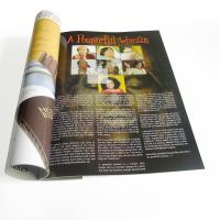 Quality White card paper, white with grey cardboard paper, special paper Printing Trade Magazines for sale