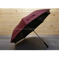30 Inches Carbon Fibre Golf Umbrella , Double Canopy Vented Golf Umbrellas With Logo   Manufactures