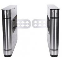 Stainless Steel Brushed Bridge Round Smart flap gate barrier for Tourism Sports Manufactures