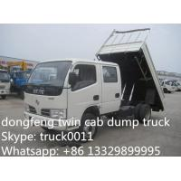 best price Dongfeng Twin cab RHD mini 3ton dump truck for sale, factory direct sale CLW Brand RHD 4*2 3tons-5tons tipper Manufactures