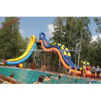 Garden Inflatable Water Park Water Slide , Inflatable Whoosh Slide For Swimming Pool Manufactures