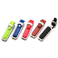 Buckle Leather Custom USB Memory Stick / Promotional USB Thumb Drives Manufactures